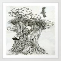 Jungle Friends Art Print