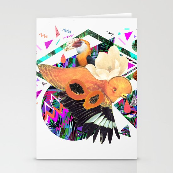 PAPAYA by Carboardcities and Kris tate Stationery Card