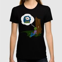 The Dead Do Dream Womens Fitted Tee Black SMALL