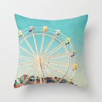 Boardwalk Ferris Wheel Throw Pillow