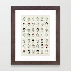 The Characters of W Framed Art Print