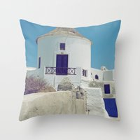 Windmill House III Throw Pillow