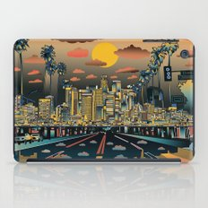 los angeles city skyline iPad Case