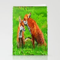 Red Fox Love  Stationery Cards