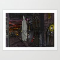 Schlepping Towards Bethlehem Art Print