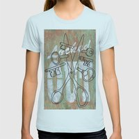 Locked Out? get some more keys cut yeah! Womens Fitted Tee Light Blue SMALL