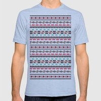 Traditional Embroidery Mens Fitted Tee Athletic Blue SMALL
