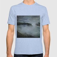 Niagara Falls New York  Mens Fitted Tee Athletic Blue SMALL