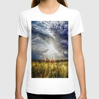 Summer happens Womens Fitted Tee White SMALL