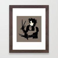 Scissorhands Framed Art Print