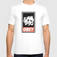 OBEY Bulbasaur Mens Fitted Tee White SMALL