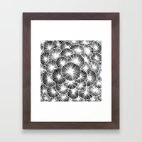 White Pinwheels Framed Art Print