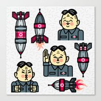 Kim Jong Un Rockets Canvas Print