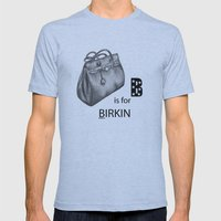 B is for Birkin Mens Fitted Tee Athletic Blue SMALL