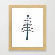 The Squirrel and the Tree Framed Art Print