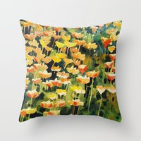 California Popies Throw Pillow