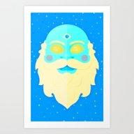 Santa Cosmos Art Print