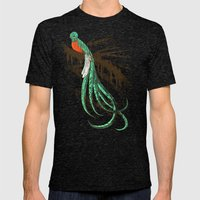 Quetzal Mens Fitted Tee Tri-Black SMALL