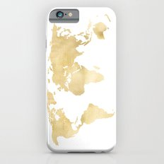 Gold World Map Slim Case iPhone 6s