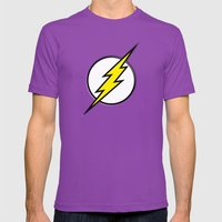 Flash - Digital Work Mens Fitted Tee Ultraviolet SMALL