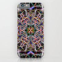 Abstract textured mandala iPhone 6 Slim Case
