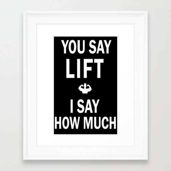 You Say I Say Framed Art Print