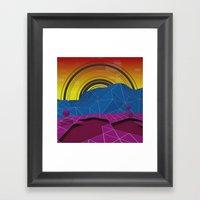 Digital Terrain Framed Art Print
