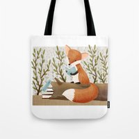 The Bookish Forest: Fox Tote Bag