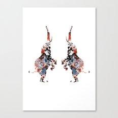 Dancing Elephants Canvas Print