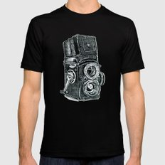 Rolleiflex - vintage film camera Black SMALL Mens Fitted Tee