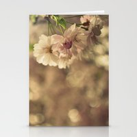 Cherry Blossom Bokeh Stationery Cards