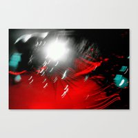 Red Flash With A Little … Canvas Print