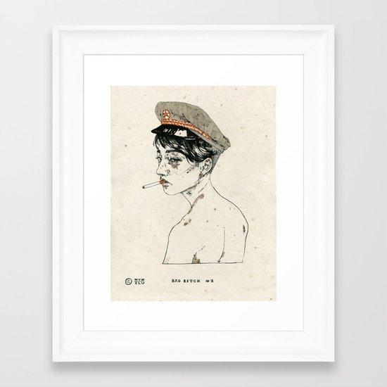Bad Bitch #2 Framed Art Print