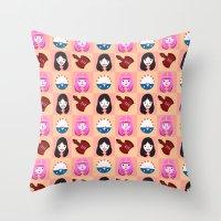 Marcelline & Bubblegum Throw Pillow