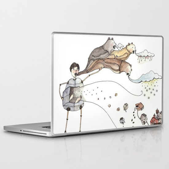 Robot Magic Laptop & iPad Skin
