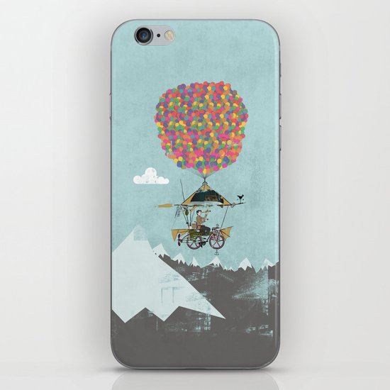 Riding A Bicycle Through The Mountains iPhone & iPod Skin