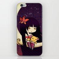 Golden Butterfly Moon iPhone & iPod Skin