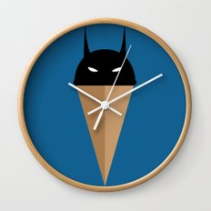 Black Vanilla Bat Wall Clock
