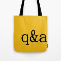Q&A Tote Bag