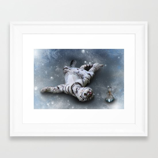 Tiger and Rabbit Framed Art Print