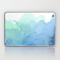 Abstract Watercolor Texture Blue Green Laptop & iPad Skin