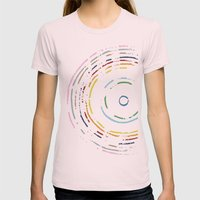 Rainbow Record On Black … Womens Fitted Tee Light Pink SMALL