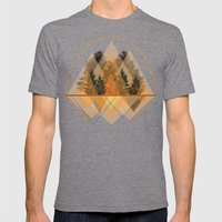 Try Again Tree-angles Mens Fitted Tee Tri-Grey SMALL