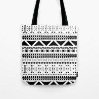 Black & White Pattern Tote Bag