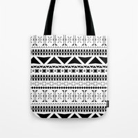 Black & White Pattern Tote Bag