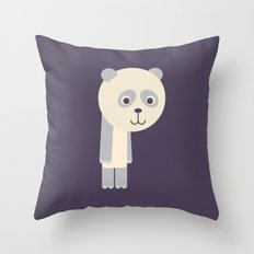 Letter P // Animal Alphabet // Panda Throw Pillow