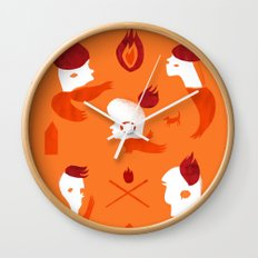Firebirds Wall Clock