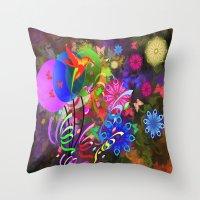 Hummingbird Paradise Throw Pillow