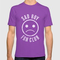Sad Boy Club (White) Mens Fitted Tee Ultraviolet SMALL