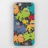 Funny microbes. iPhone & iPod Skin